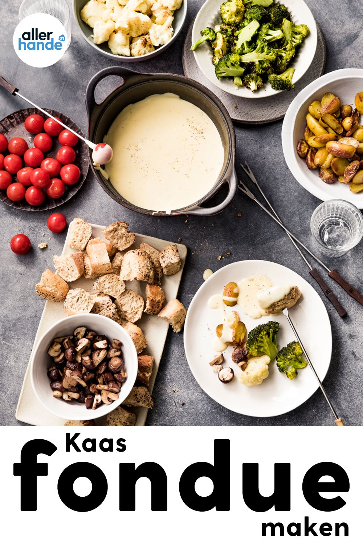 Boerenkaasfondue Met Groenten Krieltjes Brood Recept Allerhande Albert Heijn Recept Lekker Eten Kaasfondue Eten En Drinken
