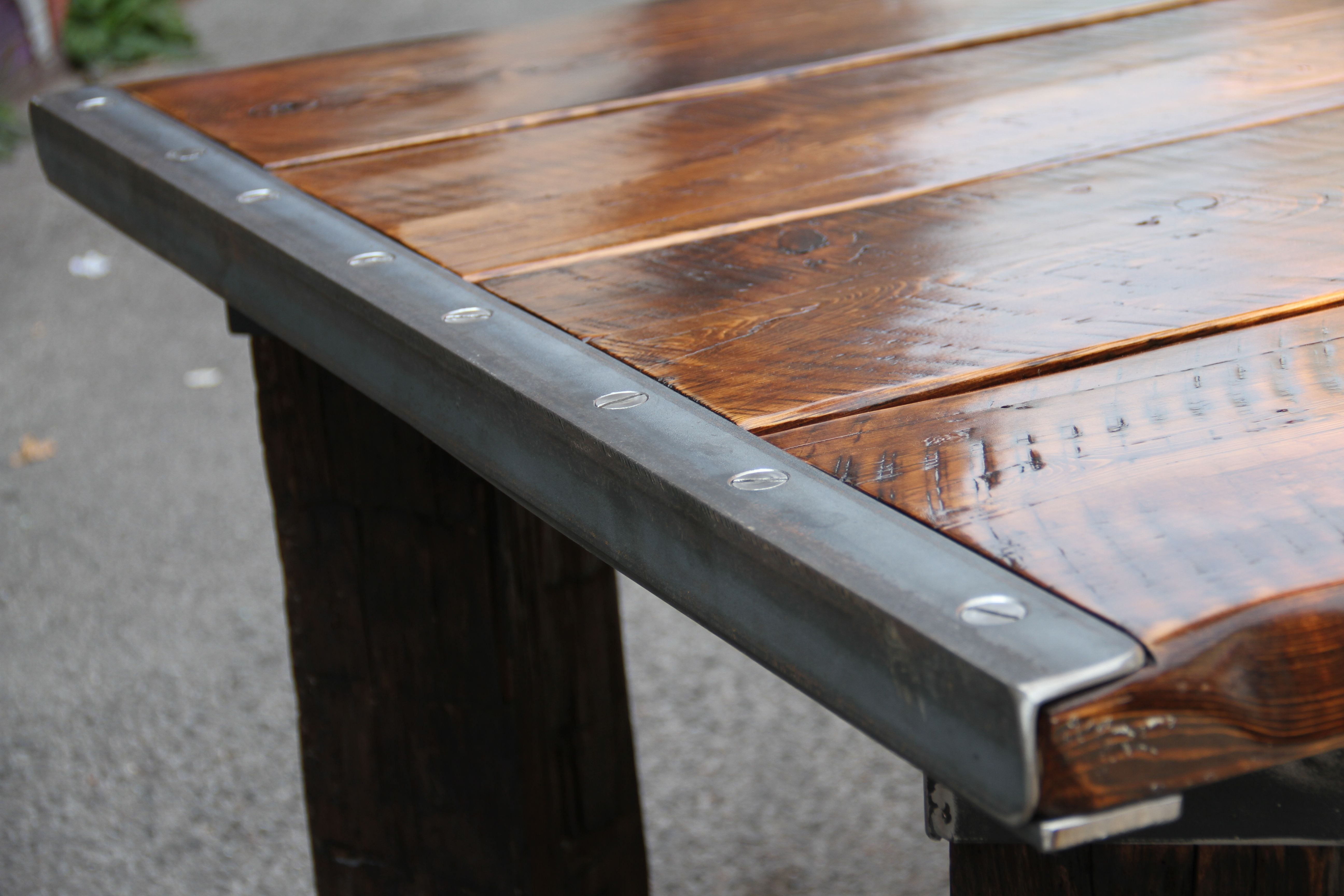 Fixtures And Furnishings By Paul Row Custom Table Top Rustic