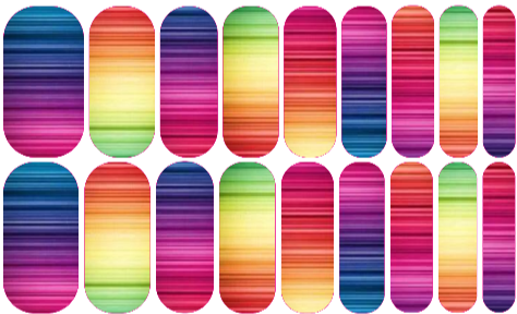 Rainbow. Message me if you would like to order these http://janellefrick.jamberrynails.net Jamberry Nails, DIY, Nail art