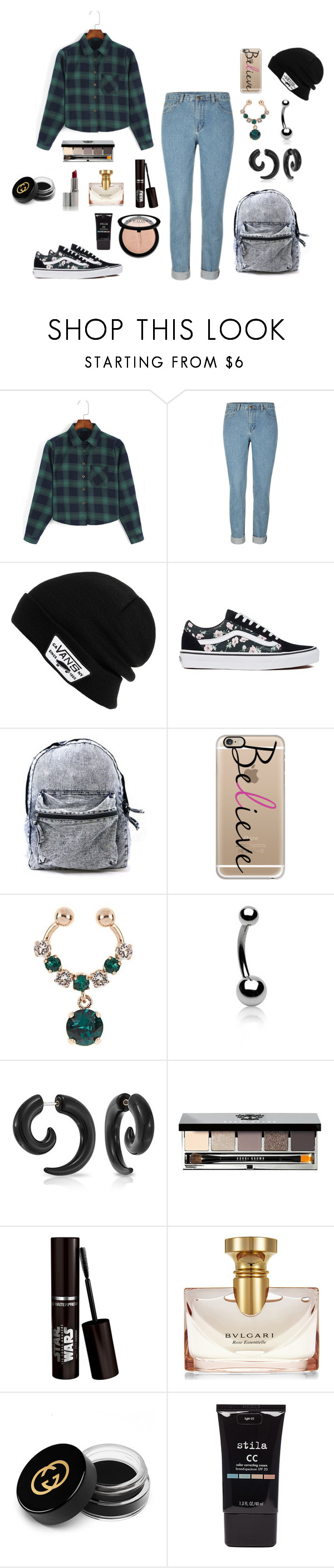 """""""Untitled #667"""" by nestor-ana ❤ liked on Polyvore featuring Vans, Casetify, Givenchy, Bling Jewelry, Bobbi Brown Cosmetics, Bulgari, Gucci, Stila and Sephora Collection"""