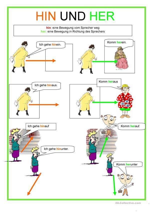 Hin und her | Languages to Learn - German | Pinterest