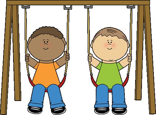 Kids On A Swing Clip Art Kids On A Swing Image Kids Clipart Free Clip Art Clip Art