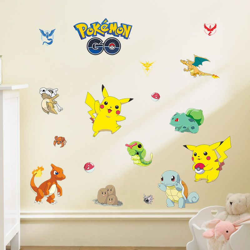 Nice Pokemon Go Wall Stickers For Kids Room Decor Pikachu Pocket Monster Home  Decals Game Fans Gift