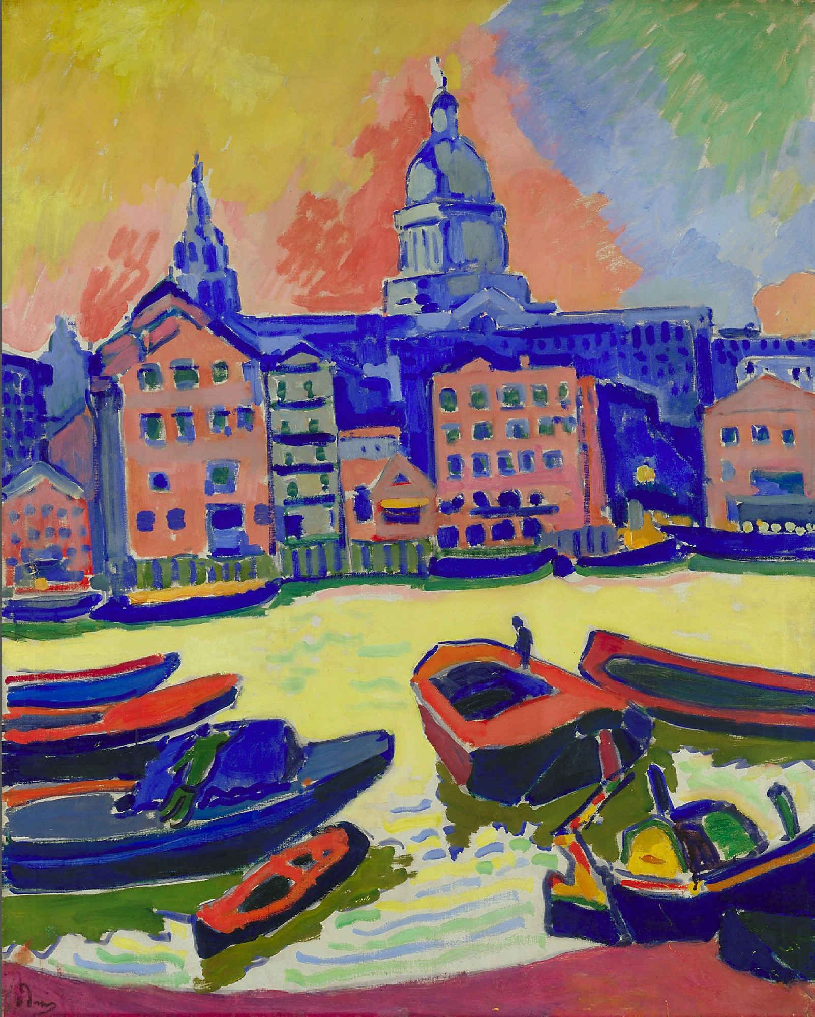 derain - 1906 st. paul's from the thames (institute of arts, minneapolis)