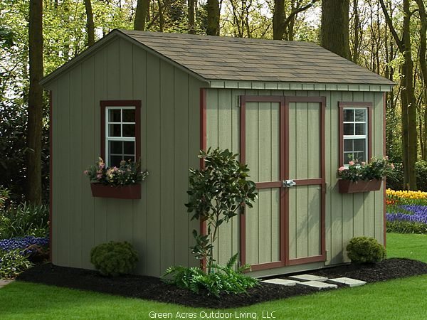 Sheds House Colour With White Trim And Simple Landscaping Around Shed Landscaping Shed Roof Design Landscaping Around House
