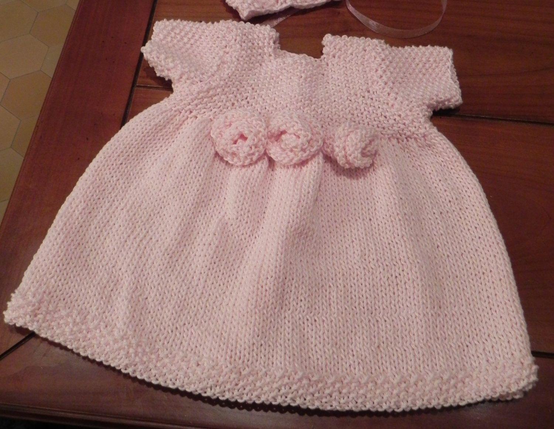 French Rosette Baby Dress Knitting Pattern PDF | Pinterest ...