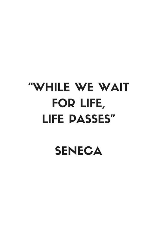 Stoic Philosophy Quote - Seneca - While we wait for life, life passes Framed Art Print by IdeasForArtists
