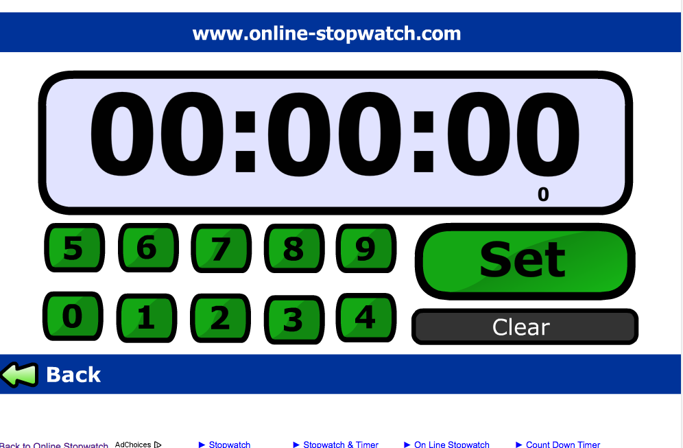 An online stopwatch. Count up or down. | Classroom ...