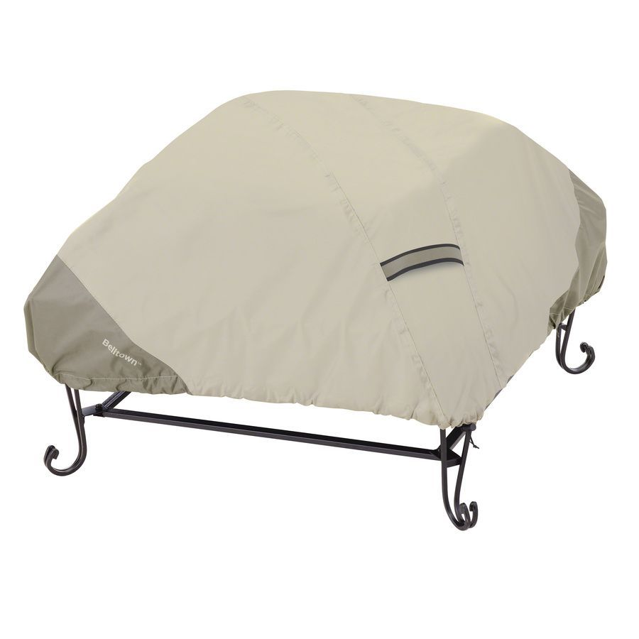 Photo of Classic Accessories Belltown 40-in Sidewalk Grey Square Firepit Cover at Lowes.c…