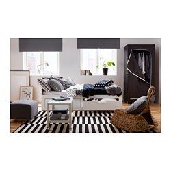 IKEA - BRIMNES, Sovesofa 2 skuffer/2 madrasser, hvid/Moshult fast, , Fire funktioner i én – siddeplads, seng til 1 person, seng til 2 personer og 2 store skuffer til opbevaring.Du får god generel støtte og komfort med en fleksibel skummadras.