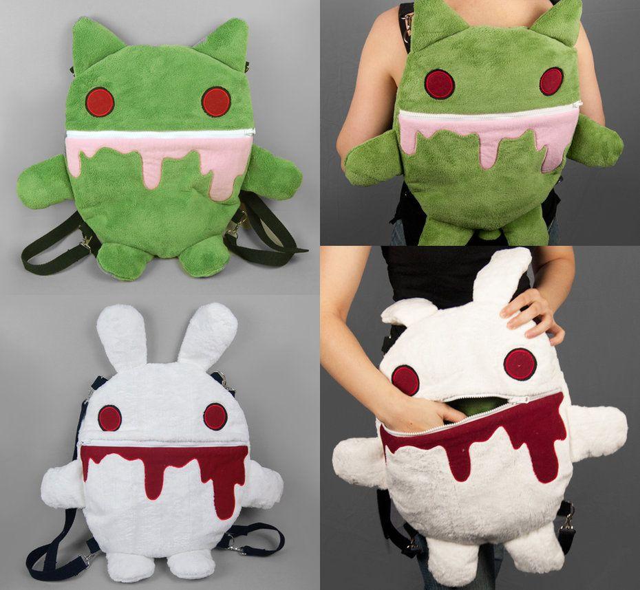 Zombie Kitty / Killer Rabbit Reversible Backpack by *ShoriAmeshiko on deviantART