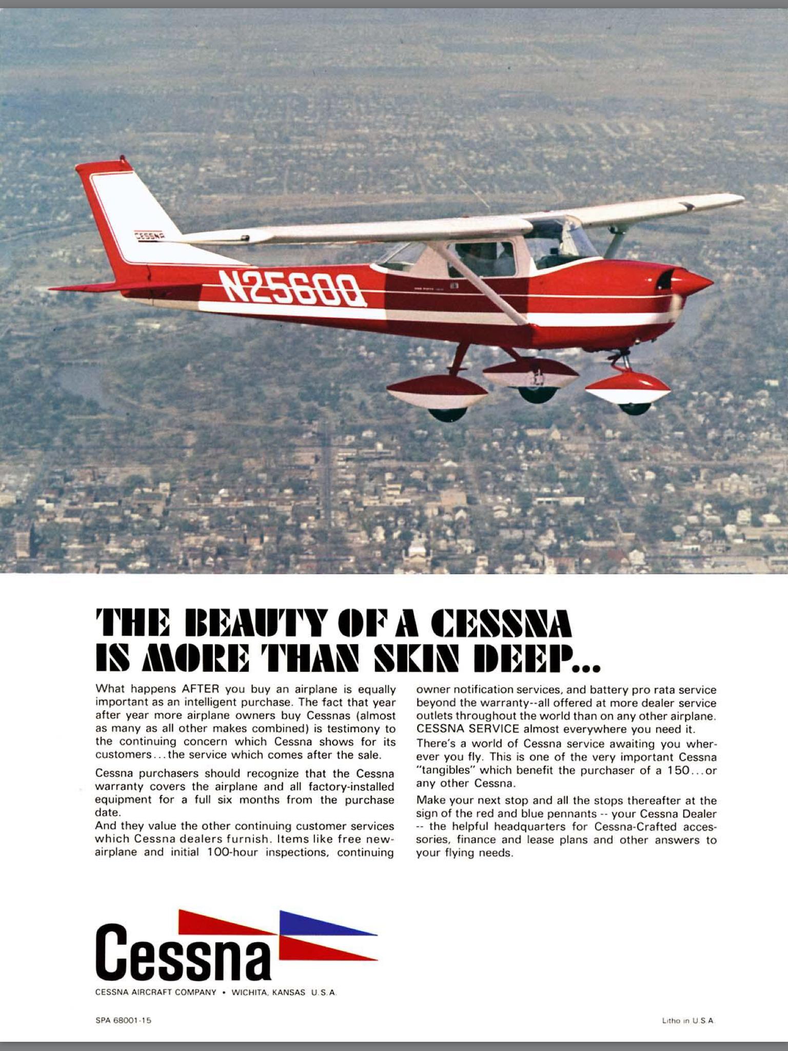 1968 Cessna 150 Cessna 150 152 Cessna 150 Aircraft