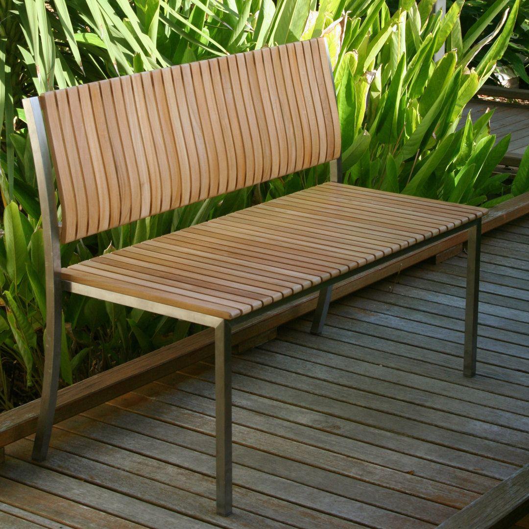 wooden garden bench Kirana Teak Bench   Teak Outdoor Furniture ...