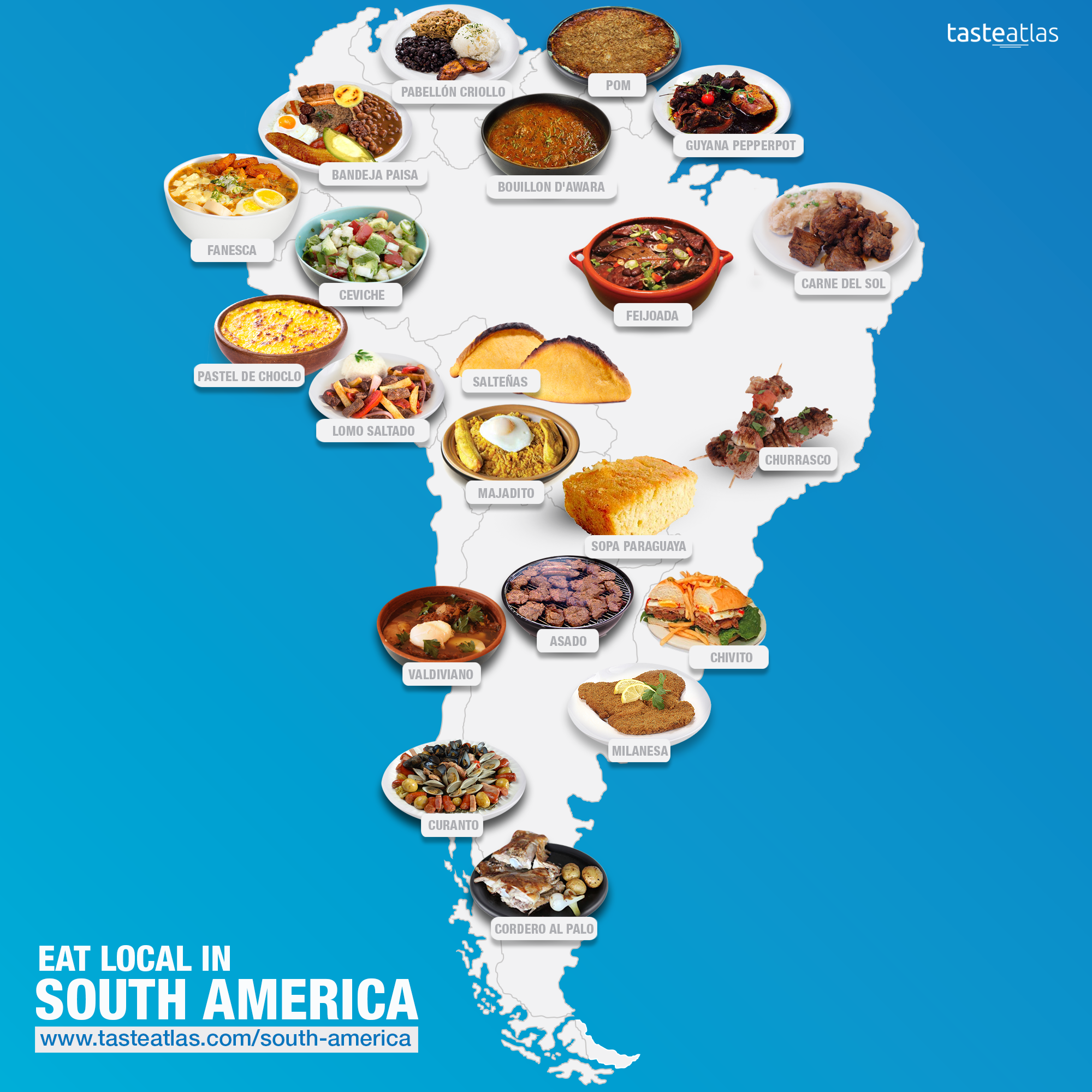 The Ultimate Map Of South America Food In 2019  Around -1490