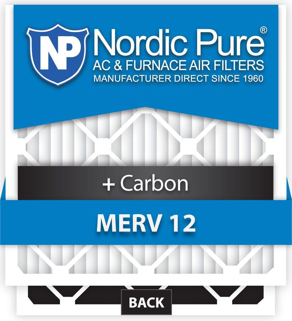 Nordic Pure 12x20x1M12 C6 MERV 12 Plus Carbon AC Furnace