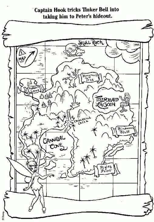 printable treasure map coloring page - Map Coloring Pages