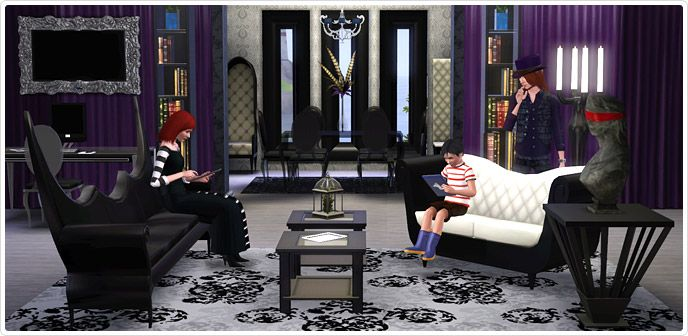 Gothic Glamour  Living Room And Home Office Collection   Store   The Sims™ 3
