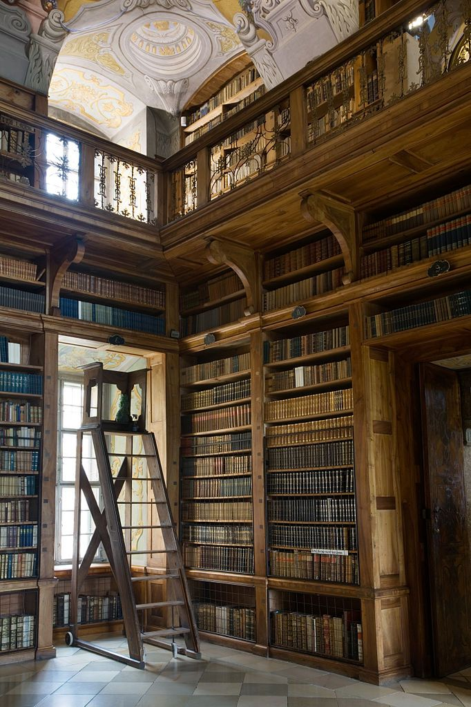 Library, Melk, Austria. I would love high ceilings in my library!