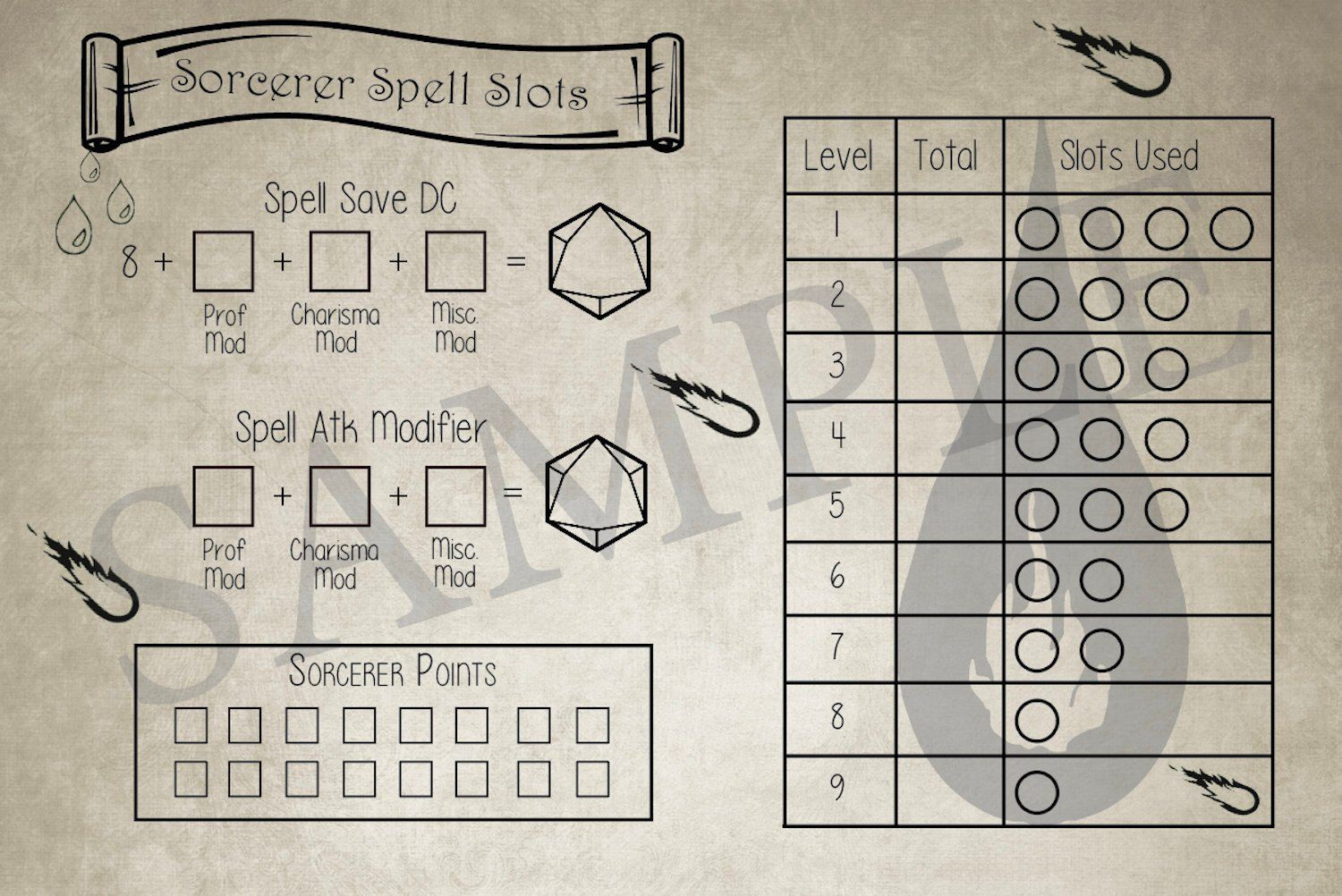 Spell Tracker for Dungeons and Dragons