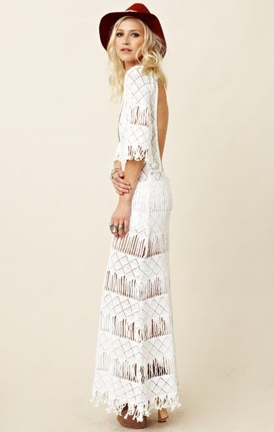 Nightcap Long Fringe Dress