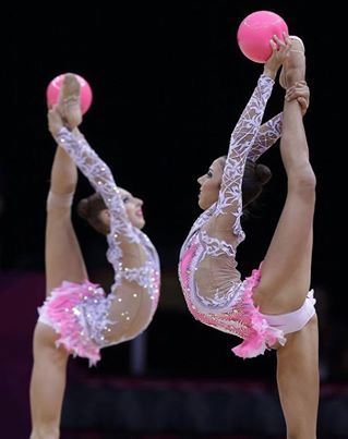 Two beautiful gymnasts from the Russian team  | Rhythmic Gymnastics