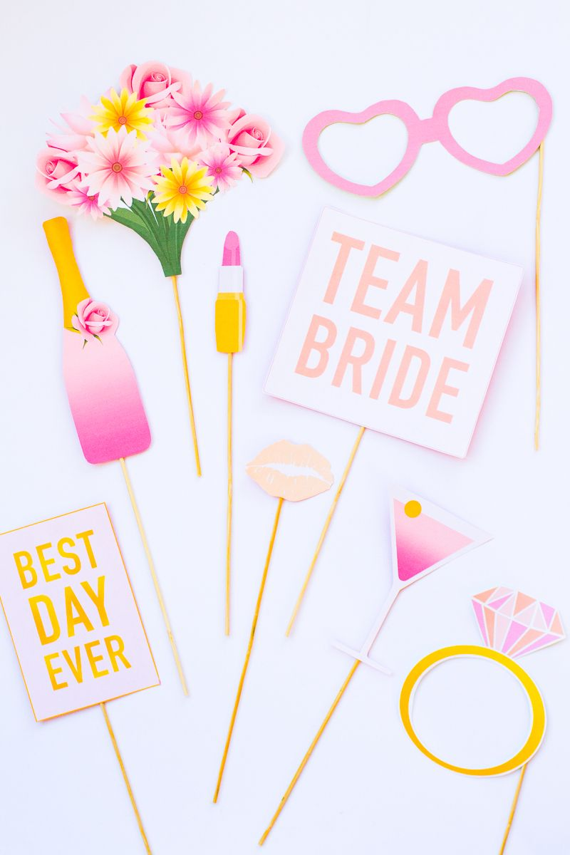 printable hen party props bridal shower bachelorette party for more visit https