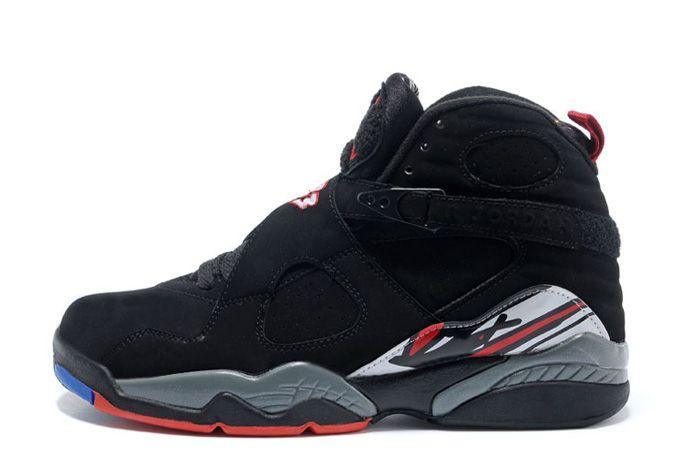 Authentic Air Jordans 8 Retro Playoffs Black True Red-White Online Sale