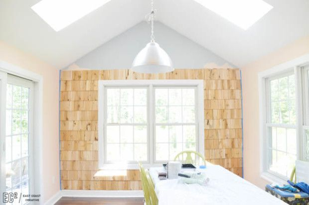 Best Diy Shingle Accent Wall Accent Wall Shingling House 400 x 300