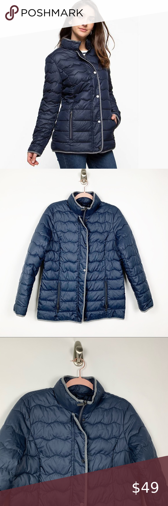 Newport Collection Navy Blue Puffer Jacket M 4859 Blue Puffer Jacket Clothes Design Fashion Trends [ 1740 x 580 Pixel ]