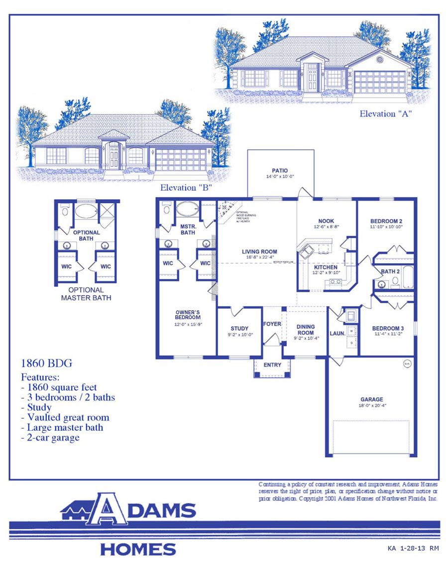 Spring Hill Adams Homes Floor Plans Model Homes
