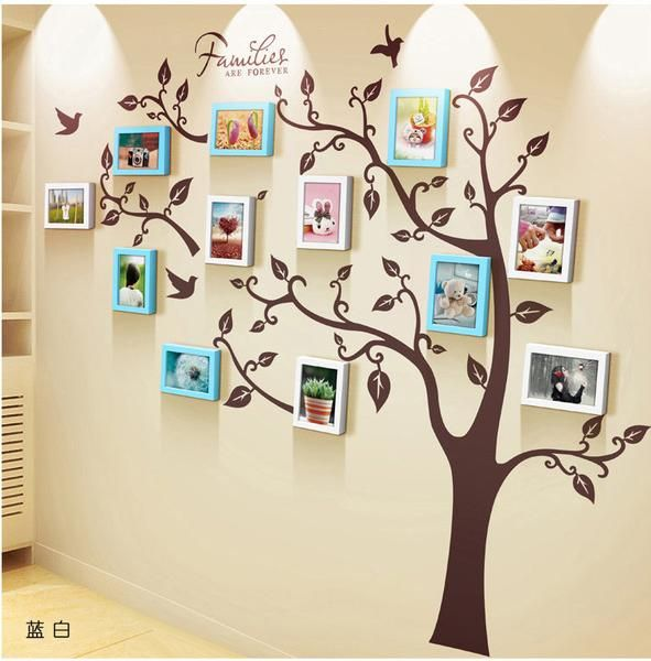 Unique family tree photo frame and decal   Family tree photo ...