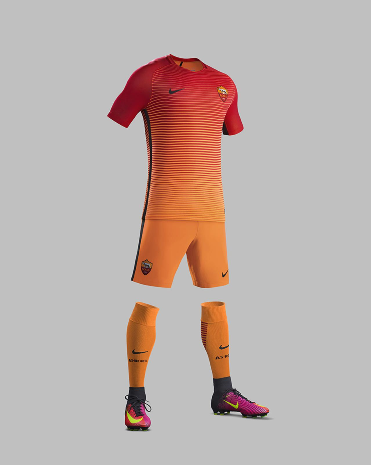 Terceira camisa da AS Roma 2016-2017 Nike kit 66315763db0d8
