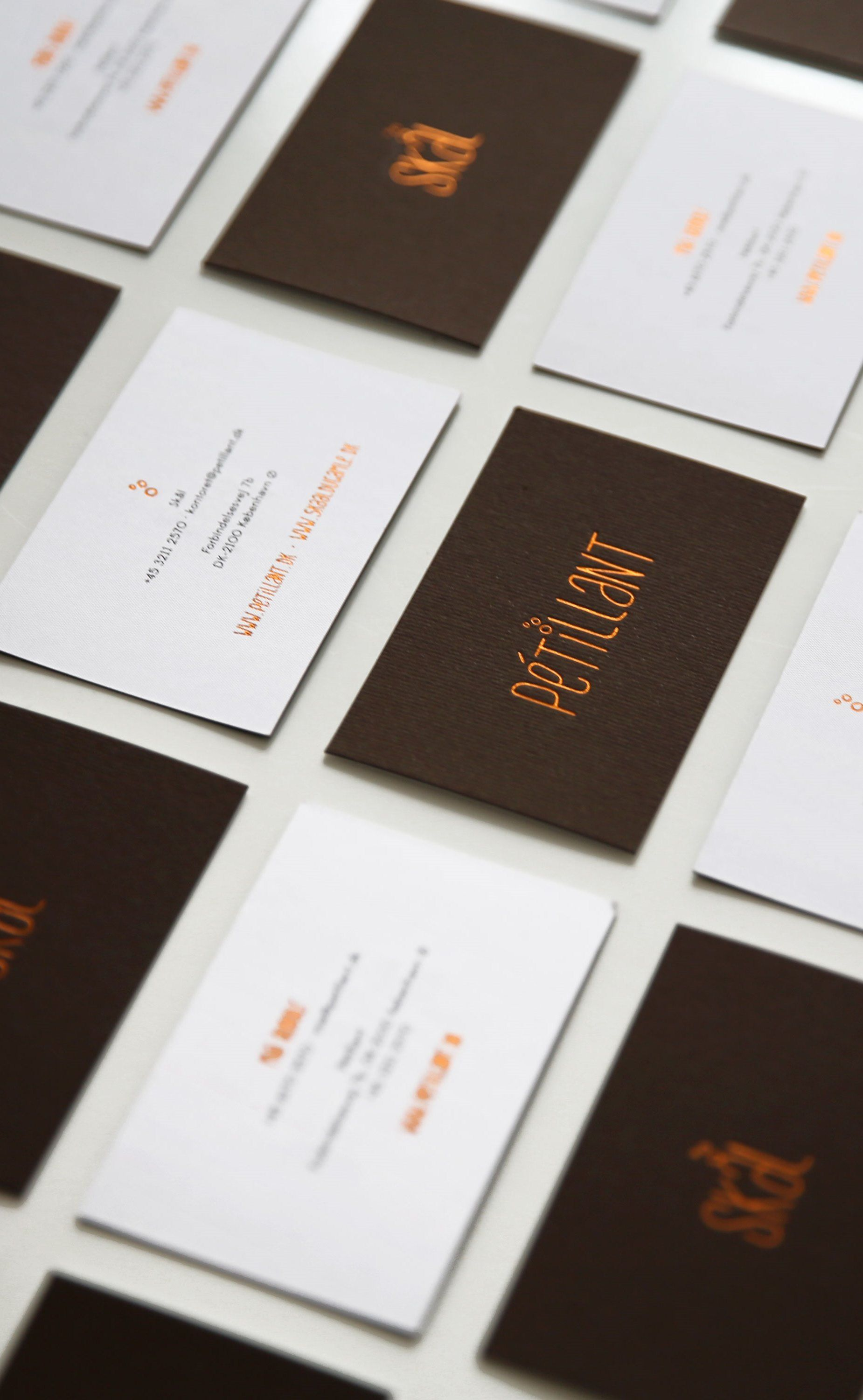 business cards with hand made typeface designed for wine brand