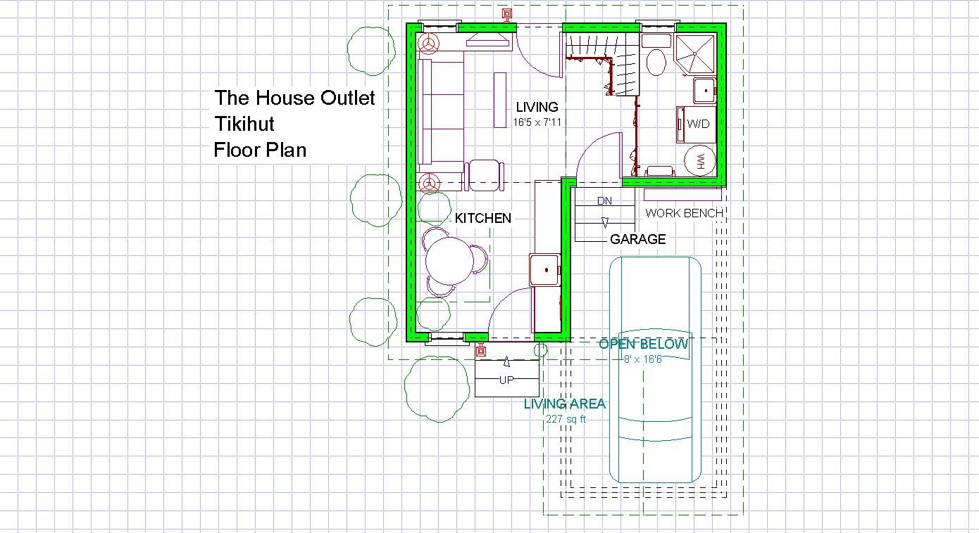 The House Outlet Tikihut Plan How To Plan Floor Plans Outlet