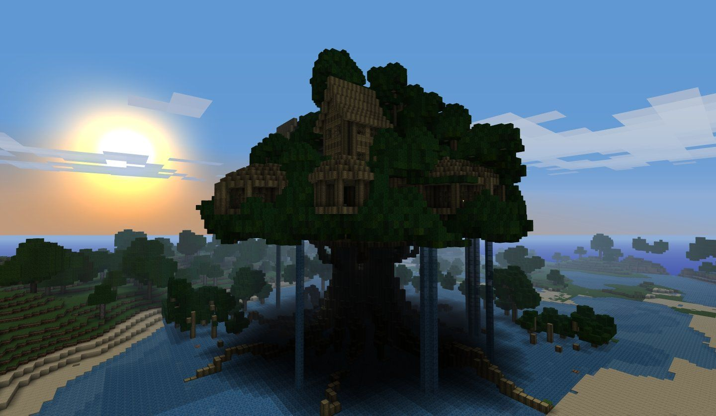 Cool Tree Houses In Minecraft | minecraft | Pinterest ...