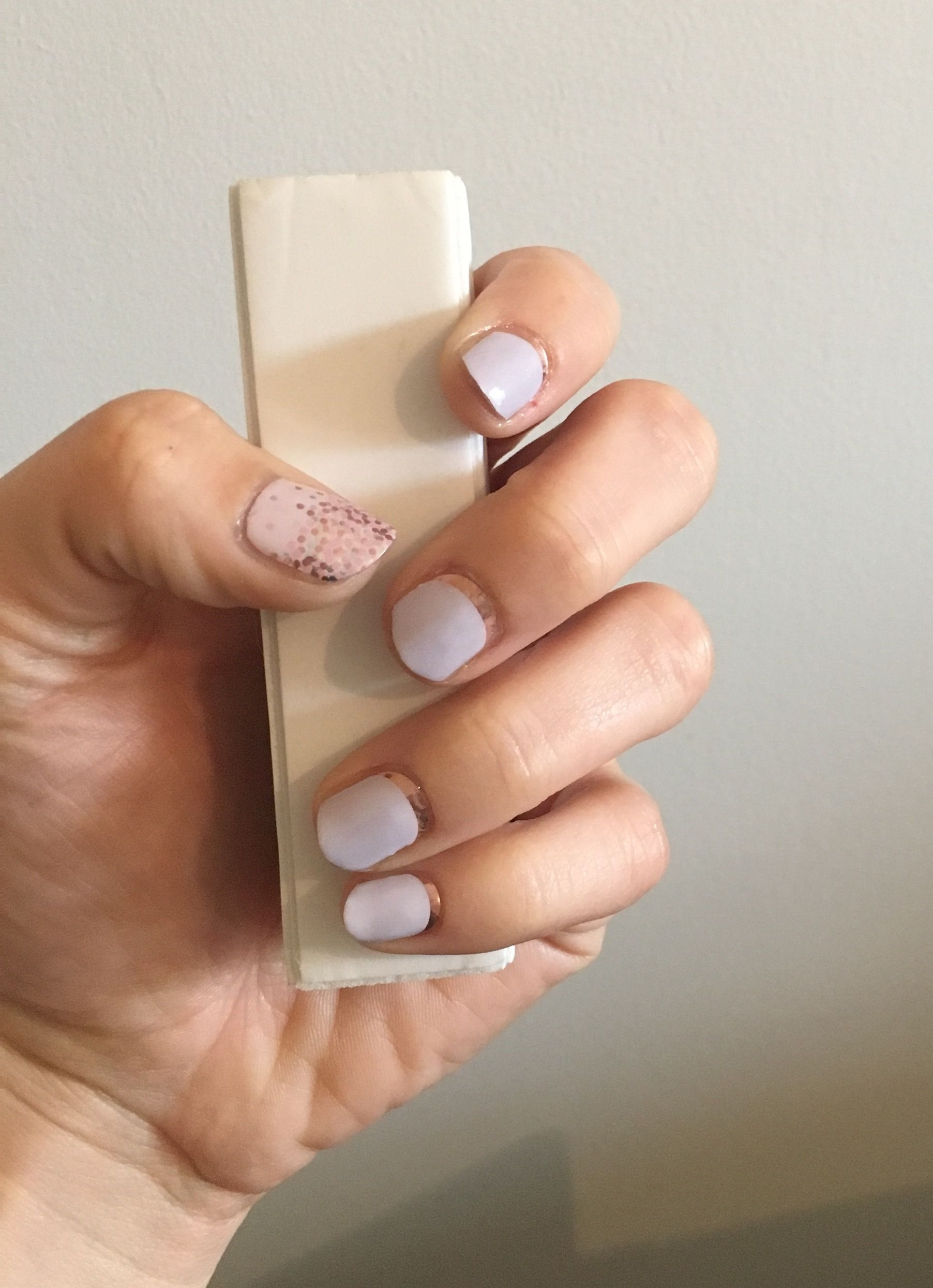 Jamberry crescent glam and cascade of love | Jamberry nail wraps + ...