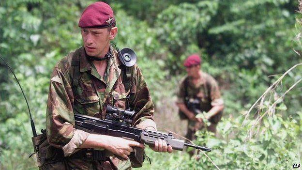 British pathinders in Sierra Leone, operation Palliser.   Army day
