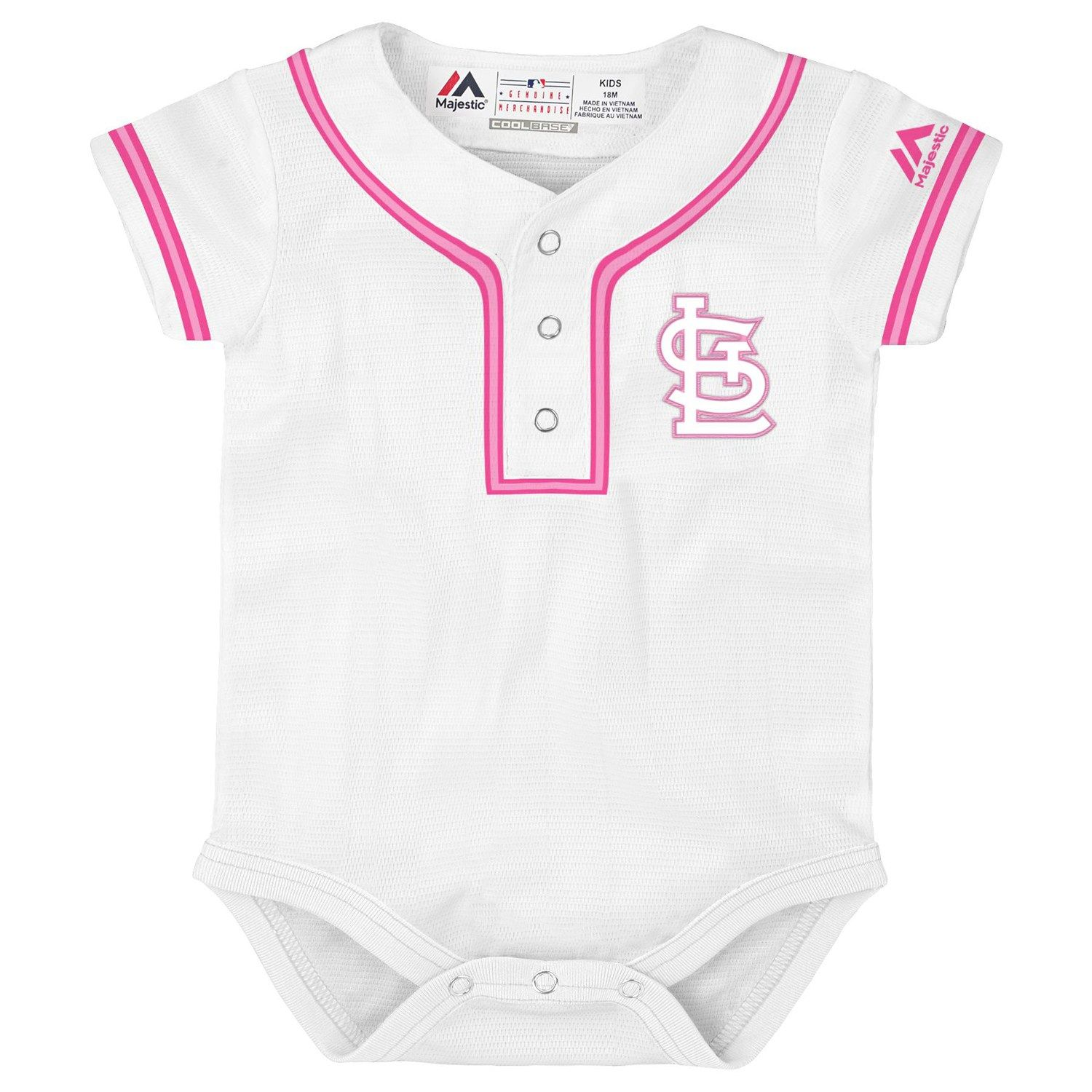 400928f9 Baby Majestic St. Louis Cardinals Cool Base Replica Jersey Bodysuit ...