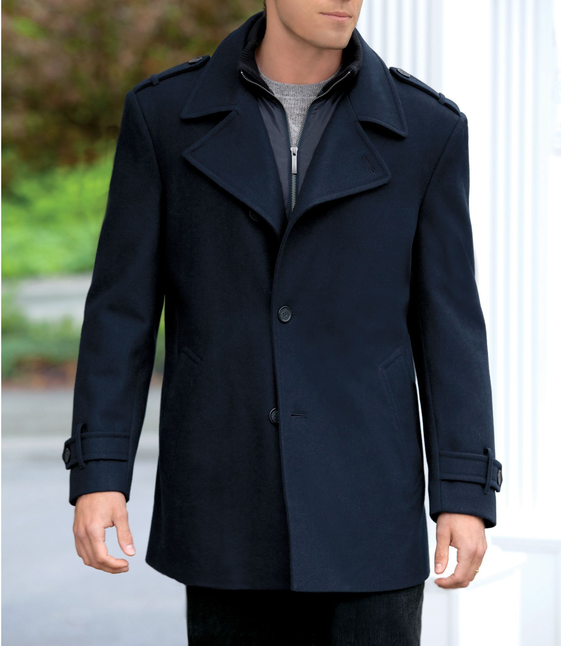 Jos. A. Bank Traditional Fit Wool Peacoat CLEARANCE