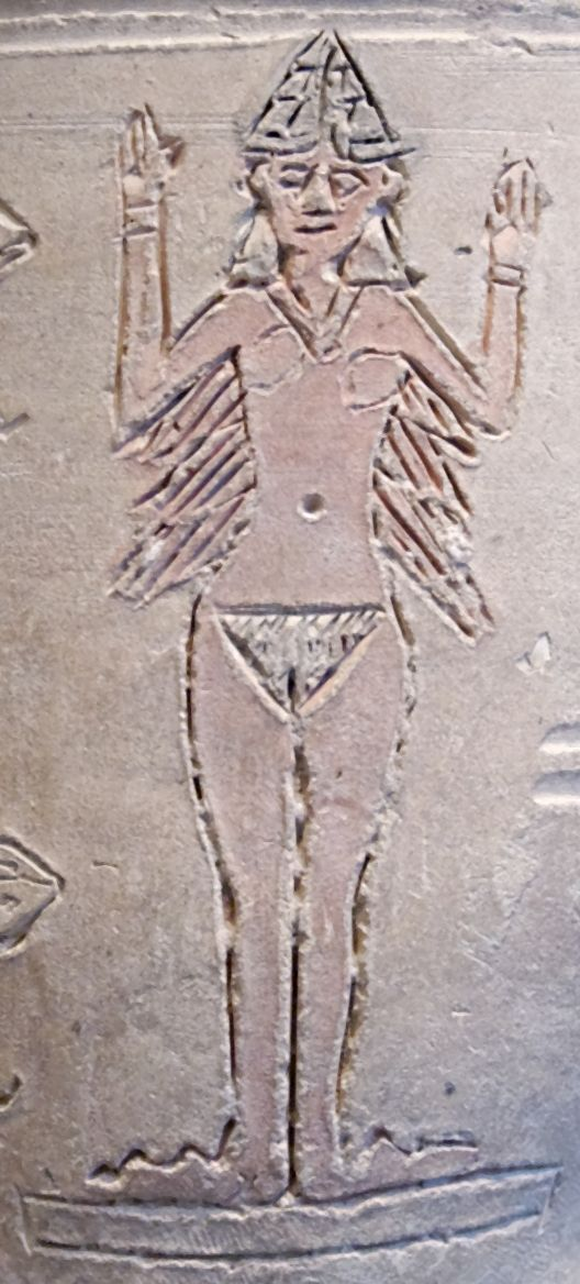 Ishtar Assyrian Babylonian Goddess Also Called Inanna By The Sumerians From The Ishtar Vase Located In The Louvre Ishtar Ancient Mesopotamia Sumerian