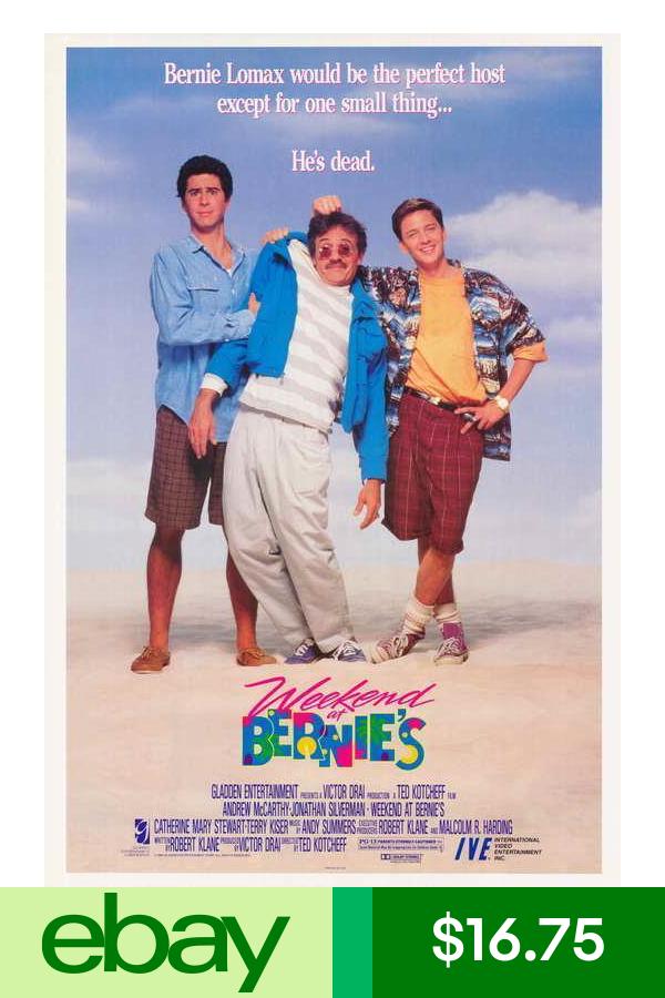 Posters Home Garden Weekend At Bernies 80s Movie Posters Bernie Movie
