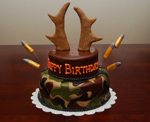 Marvelous The Camo Cake Deer Cakes Hunting Birthday Cakes Cake Funny Birthday Cards Online Overcheapnameinfo