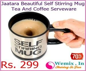 Jaatara Beautiful Self Stirring Mug Tea And Coffee Serveware Rs 299
