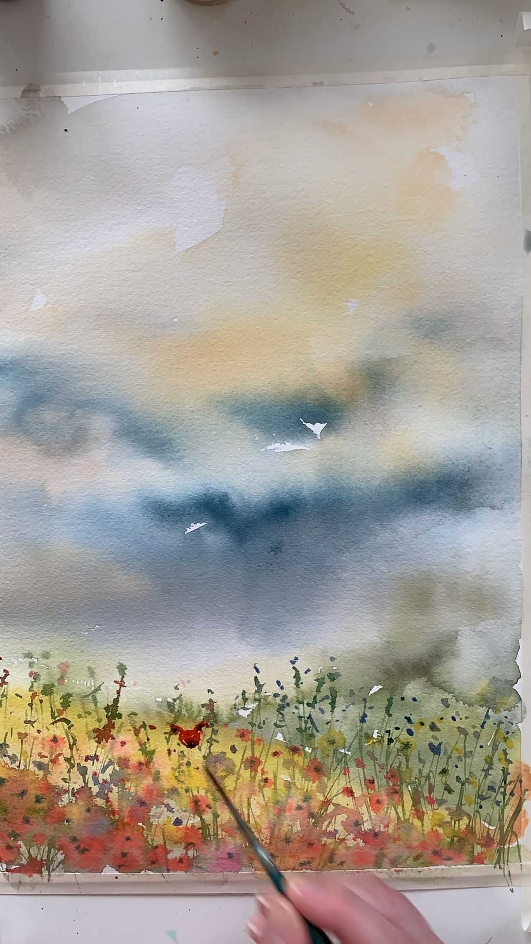 Fox In The Meadow In 2020 Watercolor Paintings Abstract