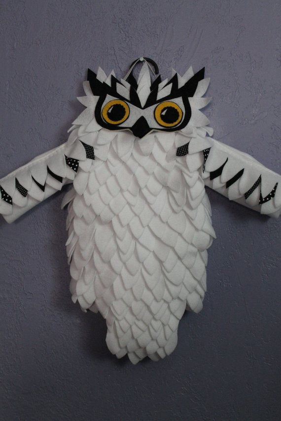 373ad7d020 White owl costume, Hedwig, Harry Potter, snowy owl, Halloween costume, girl  costume,