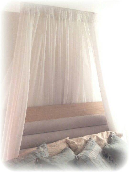 51 Ways To Diy The Bedroom Of Your Kids Dreams: Simple Diy Canopy I Created Involving Sheer Curtains, A