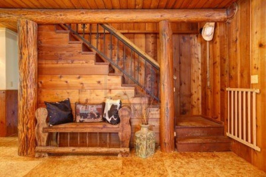 log home bathrooms interiors rustic old log cabin details with staircase and wood bench design