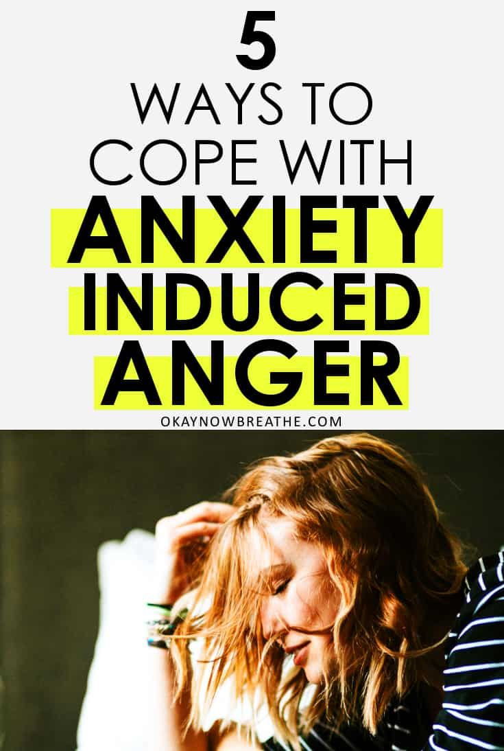 Anger is my least favorite anxiety symptom, and it's very difficult to try to manage. Here's 5 ways to cope with anxiety and anger issues. #anger #angermanagement #emotionalhealth #wellness #selfimprovement #selfhelp #selfdevelopment