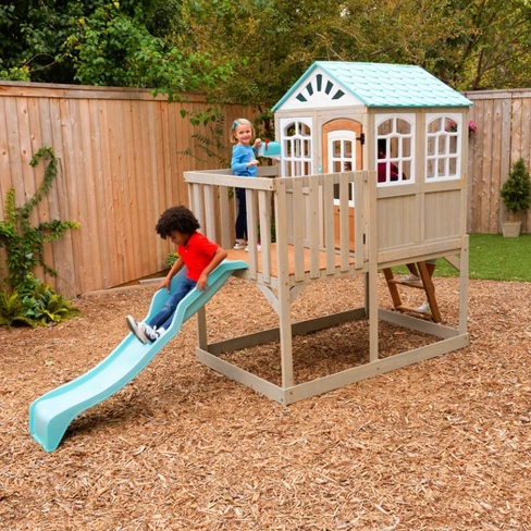 Kidkraft Highline Retreat Playhouse Playset Outdoor Play Houses