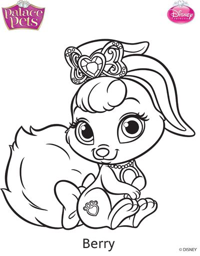 Princess Palace Pets Berry Coloring Page By Skgaleana Deviantart Com On Deviantart Animal Coloring Pages Princess Coloring Pages Disney Princess Palace Pets